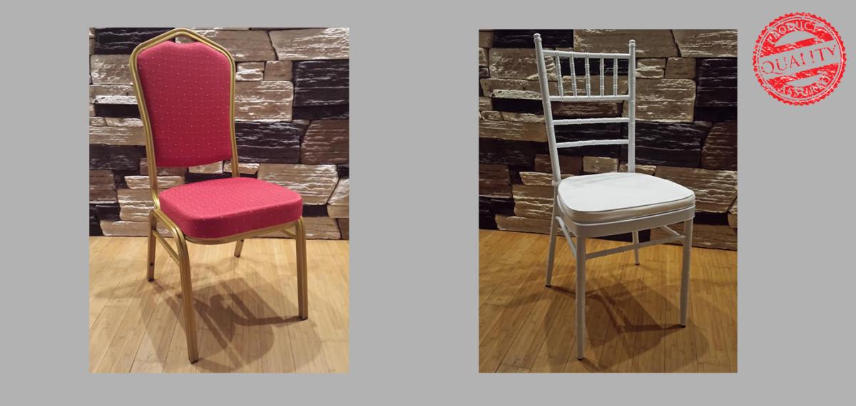 Metalne, aluminijuske, drvene, stolice za restorane, hotele, sale za venčanja, konferencijske sale, kafiće.